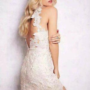 Free People + Saylor Jessa Foil Lace Dress